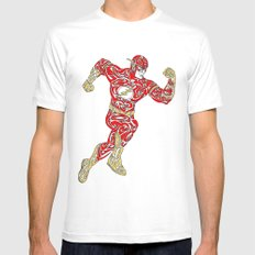 The Flash Mens Fitted Tee White SMALL