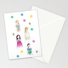 Mermaid girl beach towel Stationery Cards