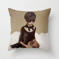 Throw Pillow featuring With Great Power by Ruben Ireland