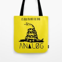 Snake and Band (Analog Zine) Tote Bag