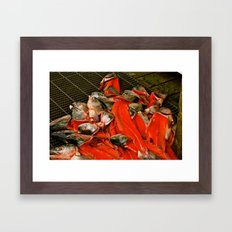 Fish heads Framed Art Print