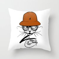 The Cats Whiskers.  Throw Pillow