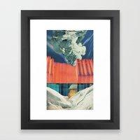 the melting wall (1) Framed Art Print