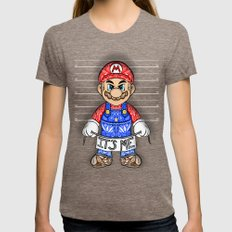 It's ME, Evil Mario !  Womens Fitted Tee Tri-Coffee SMALL
