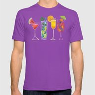 Summer Cocktail Trio Mens Fitted Tee Ultraviolet SMALL