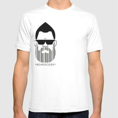 Beardcode Mens Fitted Tee SMALL White