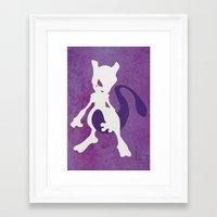 Mewtwo Framed Art Print