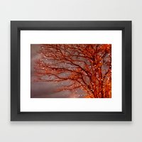 Magical In Red Framed Art Print