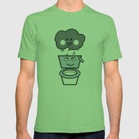 thirsty Mens Fitted Tee Grass SMALL