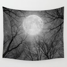 May It Be A Light (Dark Forest Moon) Wall Tapestry