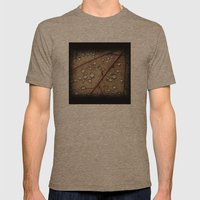 A Close Up Of A Wet Leaf Mens Fitted Tee Tri-Coffee SMALL