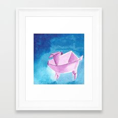 Origami Pig 5 Framed Art Print