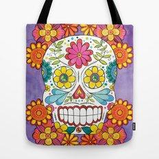 Day of the Dead Sugar Skull Tote Bag