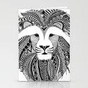 Lion - dark Stationery Cards