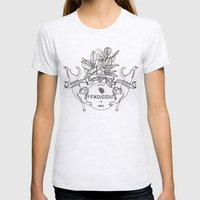 Cats Womens Fitted Tee Ash Grey SMALL