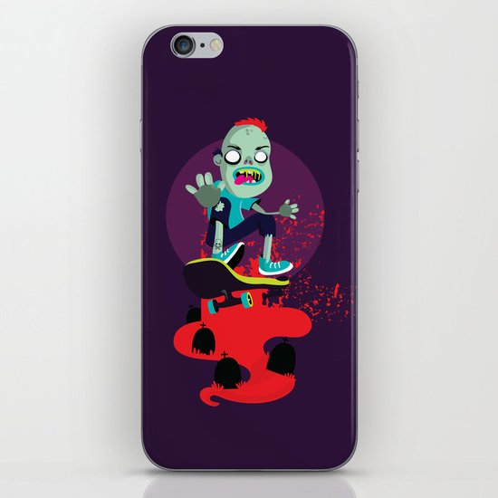 Skater zombie iPhone & iPod Skin