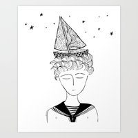 Dreamer On Board Art Print