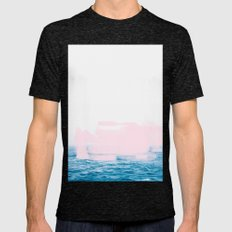 Ocean + Pink #society6 #decor #buyart Mens Fitted Tee Tri-Black SMALL