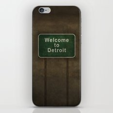 Welcome To Detroit Highw… iPhone & iPod Skin