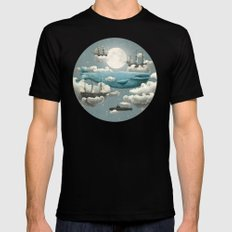 Ocean Meets Sky - colour option Mens Fitted Tee Black SMALL