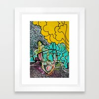 the music in my head Framed Art Print