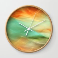 Abstract Art II Blue/Black/Green/Red Wall Clock