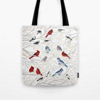 Winter Birds Tote Bag