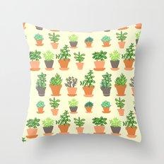 Windowsill Garden Throw Pillow