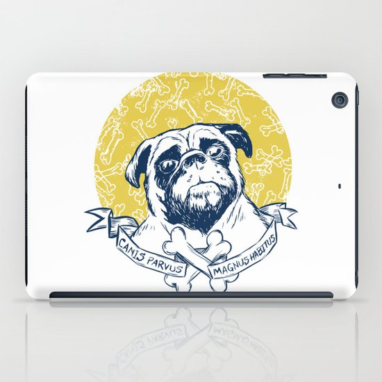 Pug : Small dog, big attitude. iPad Case