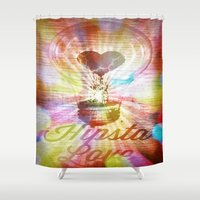 Hipsta Love  Shower Curtain