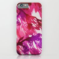 iPhone & iPod Case featuring Morning Blossoms 2 - Magenta Variation by Claire Astra