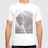 Rock&roll Mens Fitted Tee White SMALL