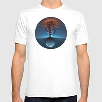Tree, Candles, And The M… Mens Fitted Tee White SMALL