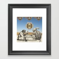 Gambling Framed Art Print