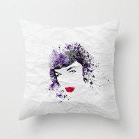 Queen Of Pin-Up Throw Pillow