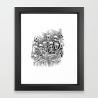 Gathered Remains Framed Art Print