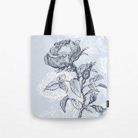 Graphic drawing roses Tote Bag