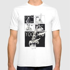 for those about to rock White SMALL Mens Fitted Tee