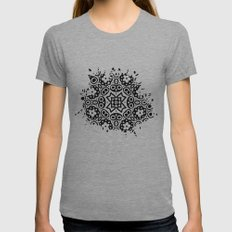 Bunch Of Flowers Womens Fitted Tee Athletic Grey SMALL