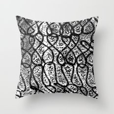 Digital Monoprint Pattern Print. Throw Pillow
