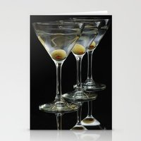 Three Martini's And Thre… Stationery Cards
