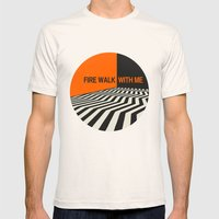 Twin Peaks Mens Fitted Tee Natural SMALL