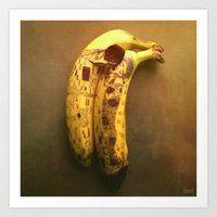 The Kiss (Banana Lovers)… Art Print