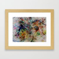 Painting Marbles Framed Art Print