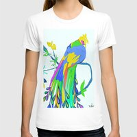 peacock T-shirts featuring Peacock  by Saundra Myles