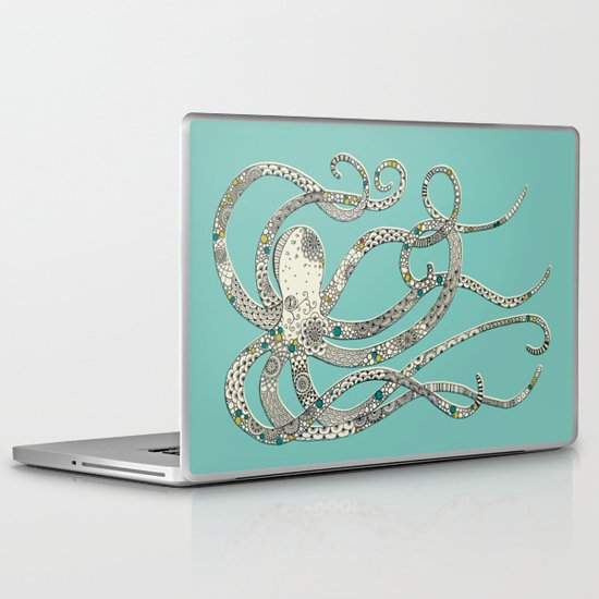 Green Octopus Laptop & iPad Skin