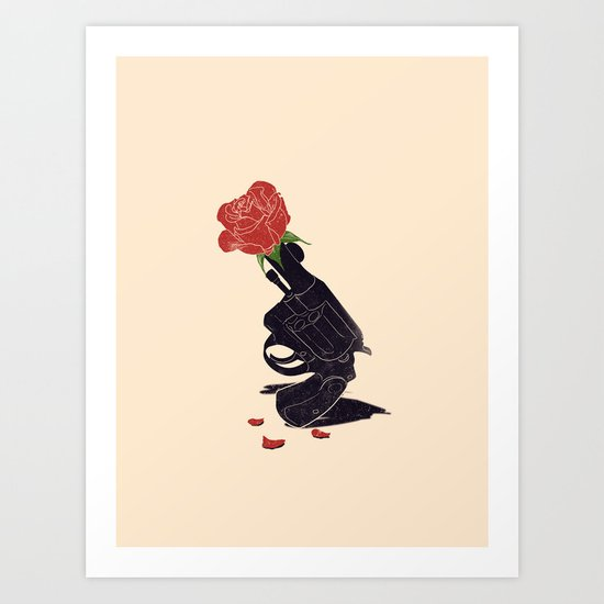 Make Love Not War Art Print By Nicebleed Society6