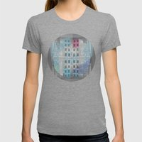 Hello my friend Womens Fitted Tee Tri-Grey SMALL