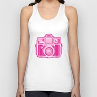 I Still Shoot Film Holga Logo - Pink Unisex Tank Top