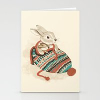 couple Stationery Cards featuring cozy chipmunk by Laura Graves